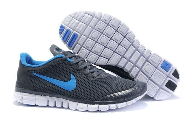 best sneakers 15feb 22fd8 Nike Free 3.0 V2 Chaussures de Course Pied pour Homme Gris Foncé Bleu Clair