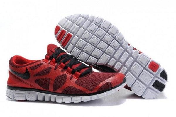 new concept 7a559 23836 ... Nike Free 3.0 V3 Chaussures de Course Pied pour Homme Gym Rouge Noir  Blanc ...